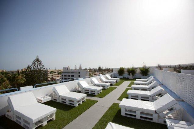 Dakterras van Appartementen Playa del Sol op Gran Canaria
