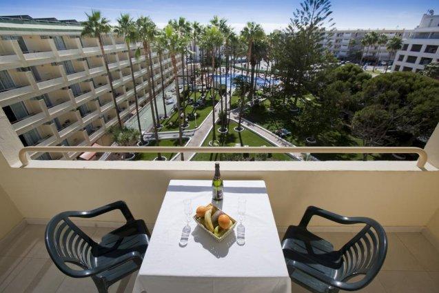 Balkon van een appartement van Appartementen Playa del Sol op Gran Canaria