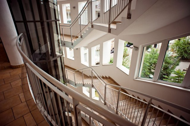 Trappenhuis van Aparthotel Agape in Budapest