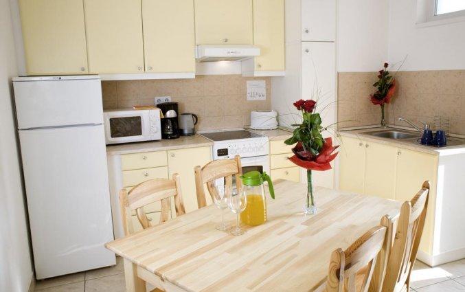 Keuken in studio van Aparthotel Agape in Budapest