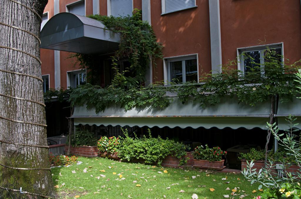 Tuin van Eco-Hotel La Residenza in Milaan
