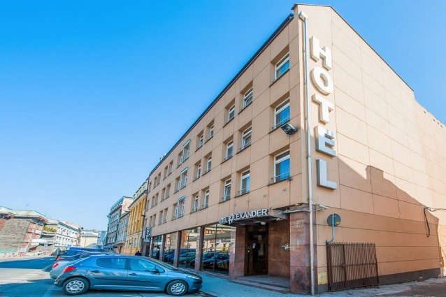 Gebouw van Hotel Alexander in Krakau