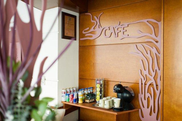 Koffiehoek van Hotel Alexander in Krakau