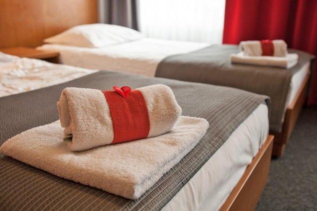 Tweepersoonskamer van Hotel Alexander in Krakau