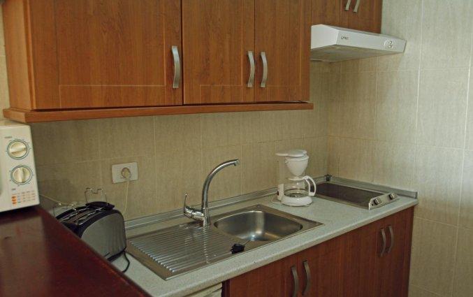 Keuken van appartementen Caribe