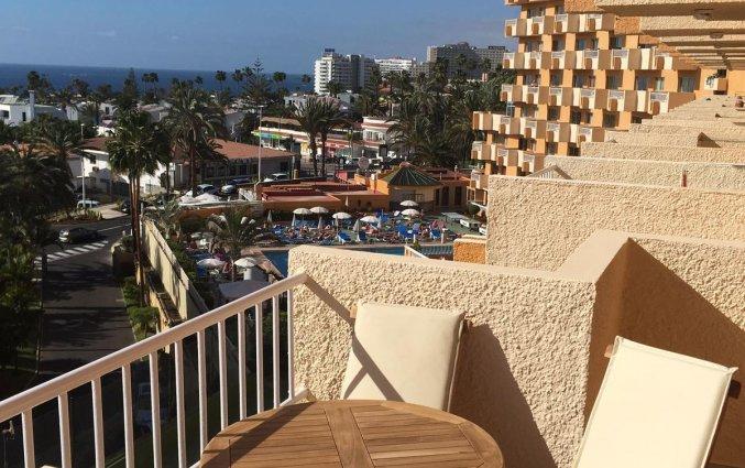 Uitzicht balkon van appartementen Caribe