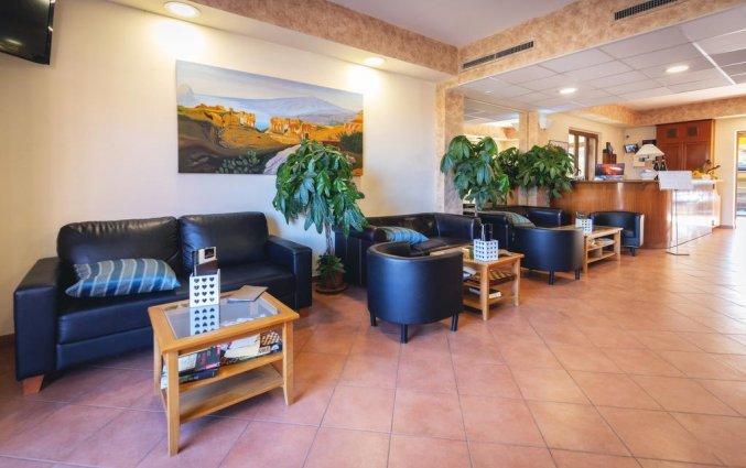 Receptie van Hotel La Terra dei Sogni op Sicilie