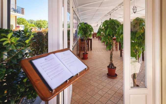 Restaurant van Hotel La Terra dei Sogni op Sicilie