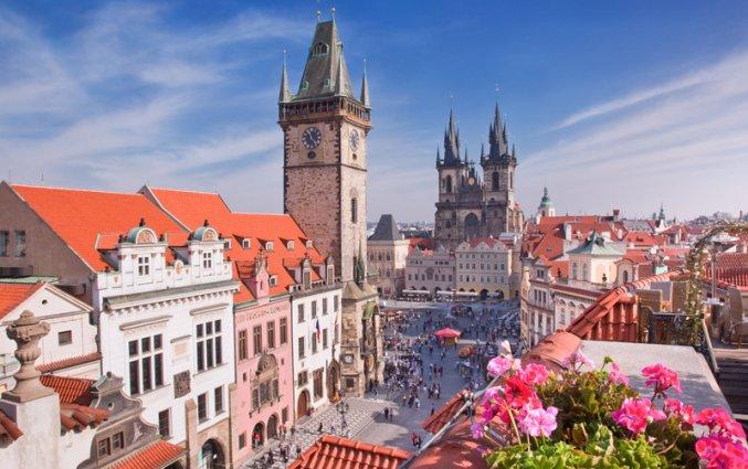 Praag - Kathedraal en klokkentoren