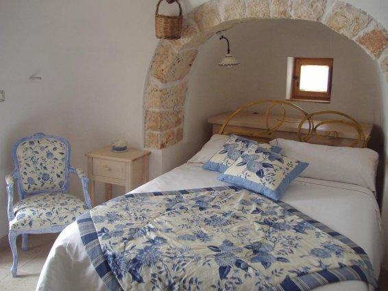 Tweepersoonskamer van Bed & Breakfast Trulli Terra Magica in Puglia