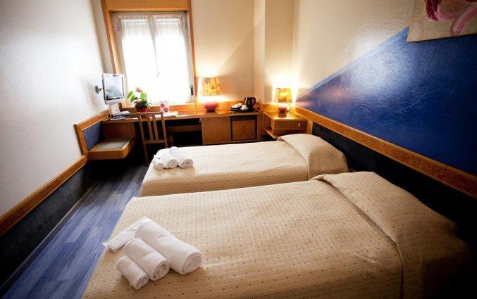 Twee losse bedden in Hotel Diplomatic Turijn
