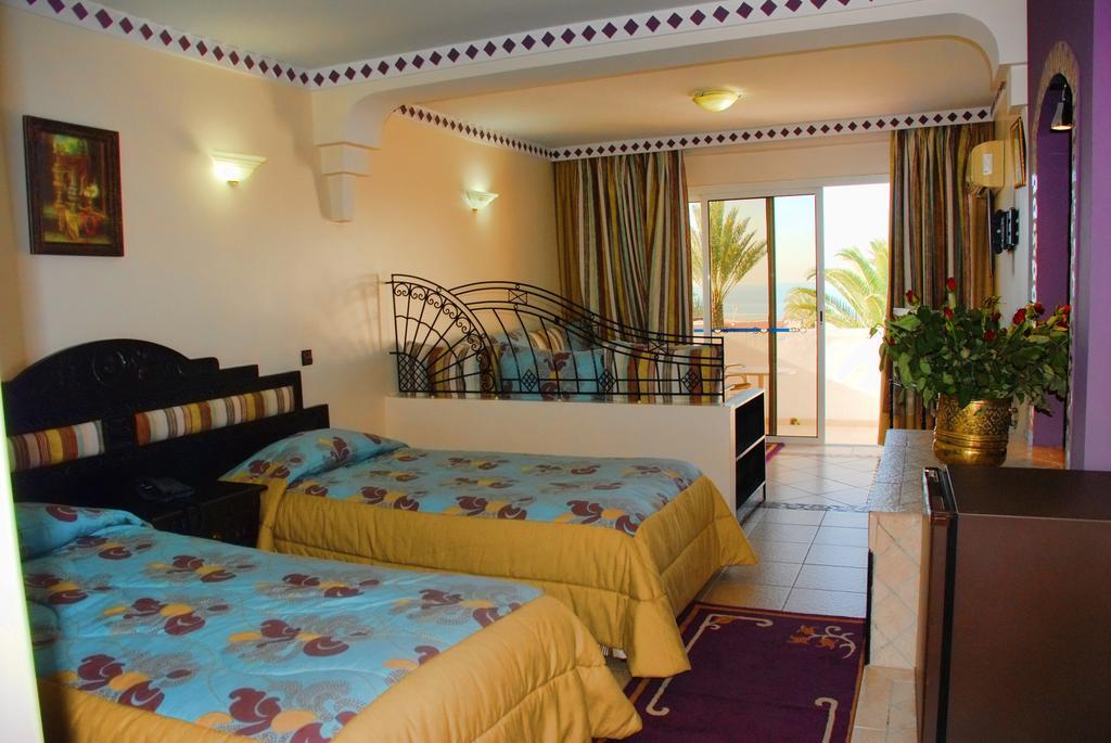 Tweepersoonskamer van Hotel Club Almoggar Garden Beach in Agadir