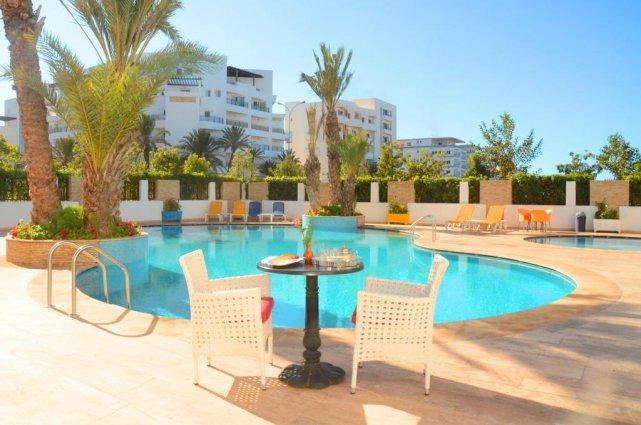 Het zwembad van Aparthotel Atlantic Palm Beach Agadir