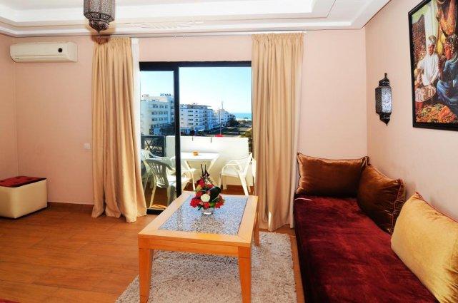 Huiskamer van een appartement van Aparthotel Atlantic Palm Beach Agadir