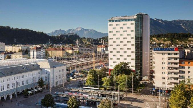 Gebouw van Hotel Austria Trend Europa Salzburg