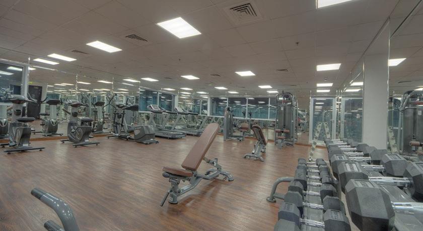 Fitnessruimte van Hotel Orchid Vue in Dubai