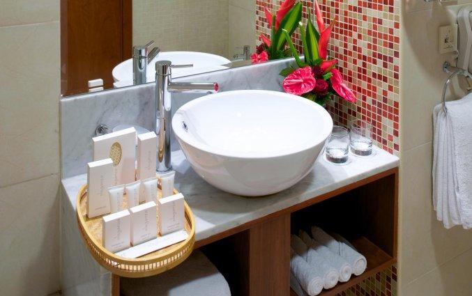 Badkamer van een tweepersoonskamer van Hotel Carlton Al Barsha in Dubai