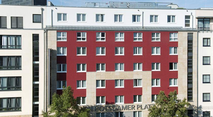 Gebouw van Hotel NH Berlin Postdamer Platz in Berlijn