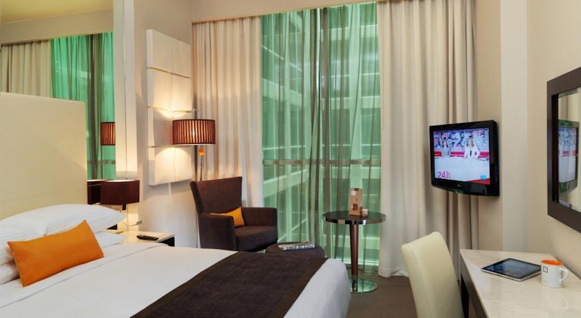 Tweepersoonskamer van Hotel Centro Basrha in Dubai