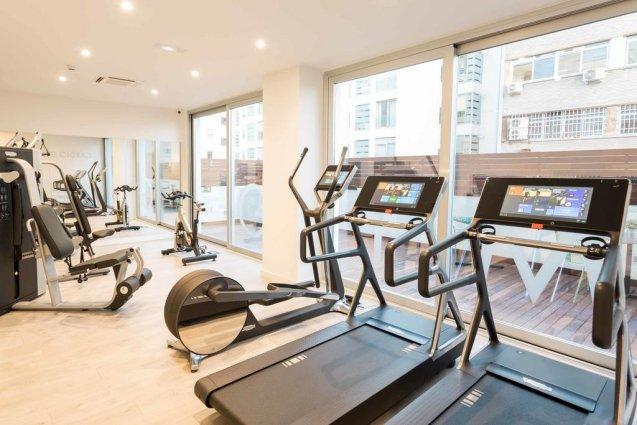 Fitnessruimte van Hotel Artiem in Madrid