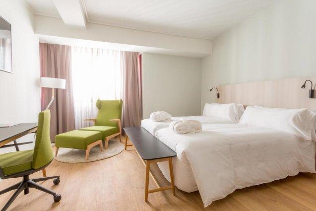 Tweepersoonskamer van Hotel Artiem in Madrid