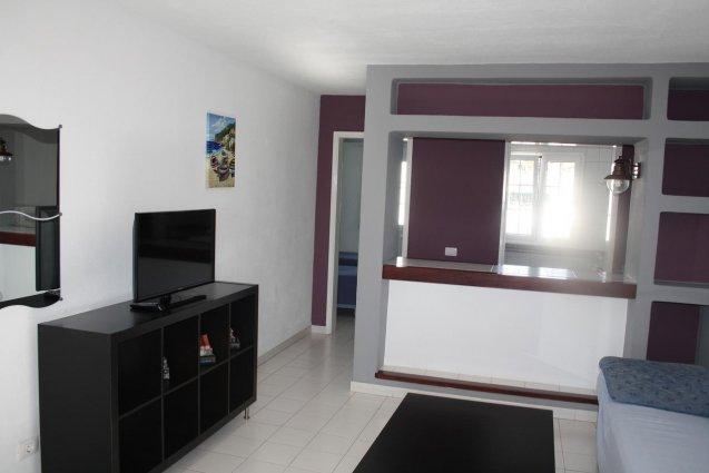 Woonkamer van een appartement van Hotel Vista Mar op Lanzarote de Canarische Eilanden