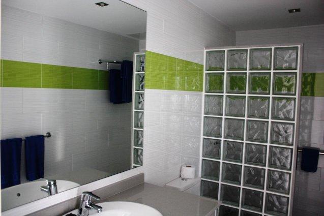 Badkamer van een appartement van Hotel Vista Mar op Lanzarote de Canarische Eilanden