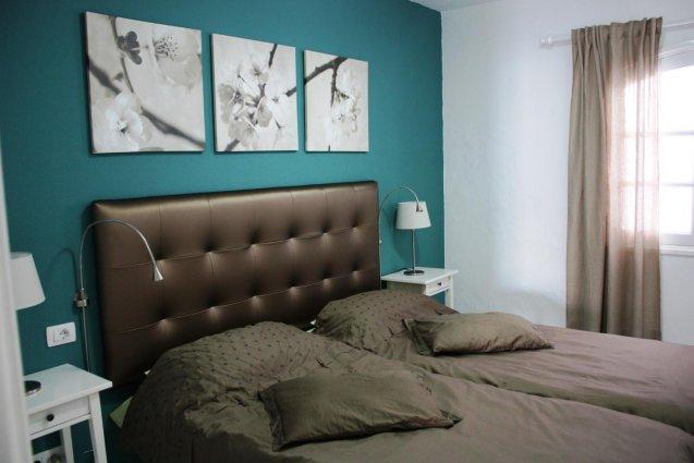 Slaapkamer van een appartement van Hotel Vista Mar op Lanzarote de Canarische Eilanden