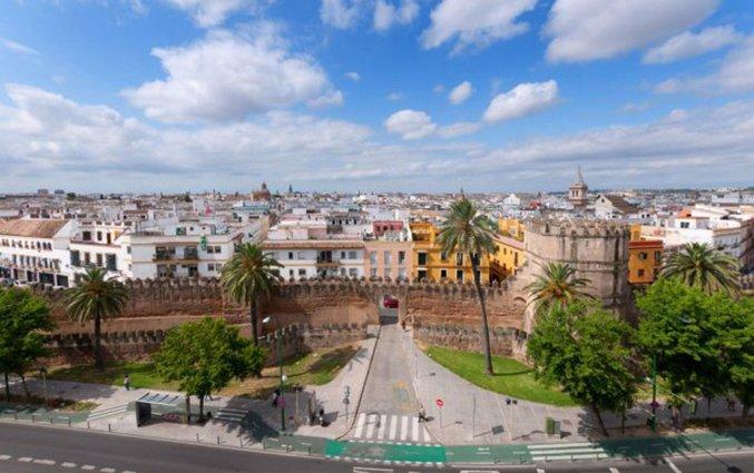 Uitzicht van hotel Sevilla Macarena in Sevilla