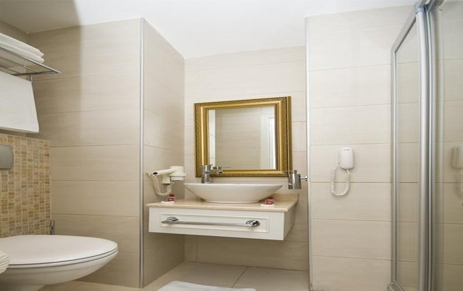 Badkamer van een tweepersoonskamer van Hotel Avicenna in Istanbul