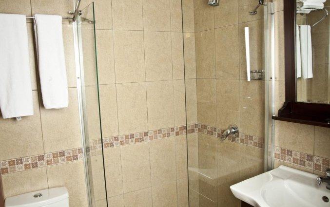 Badkamer van een tweepersoonskamer van Hotel Asmali in Istanbul