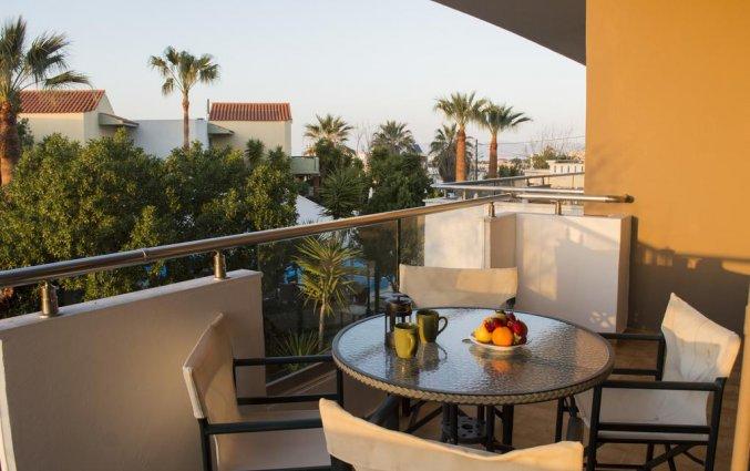 Balkon van een studio of appartement van Aparthotel Nireas Kreta