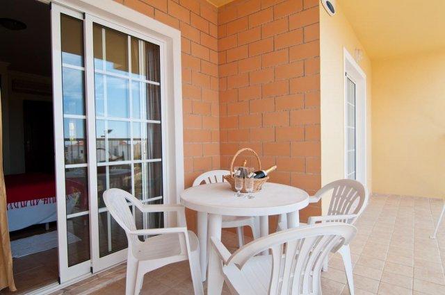 Buitenterras vanAppartementen Villas Barrocal Algarve