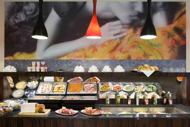 Ontbijtbuffet van Hotel Soho Boutique in Budapest