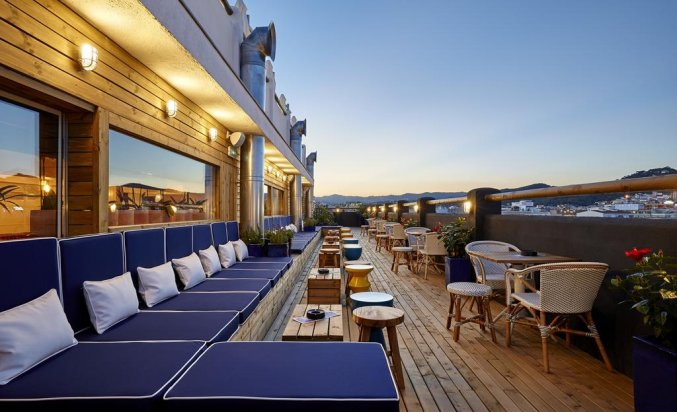 Terras van Hotel Delamar in Lloret de Mar