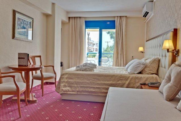 Tweepersoonskamer van Hotel en Spa Secret Paradise op Chalkidiki