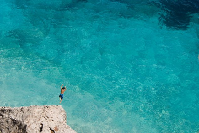 Sardinië - Duik in zee