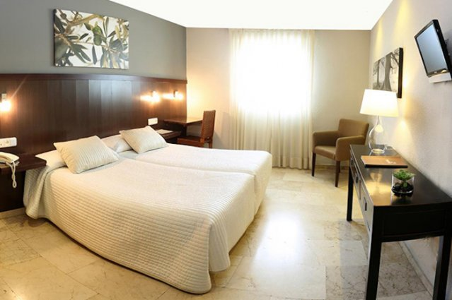Tweepersoonskamer met tweepersoonsbed van Hotel Oasis
