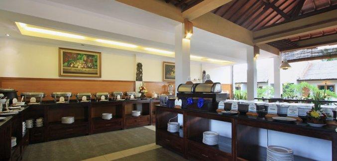 Restaurant van Hotel Kuta Lagoon Resort op Bali