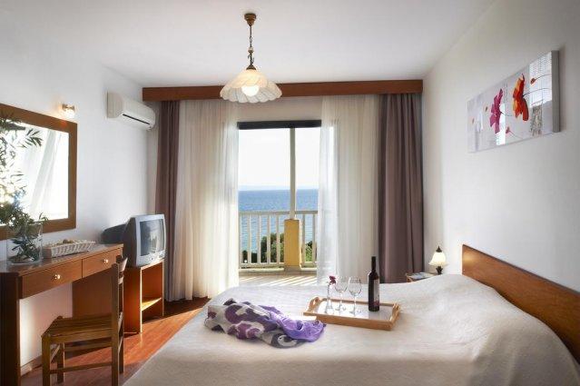 Slaapkamer van hotel Elea Village in Chalkidiki