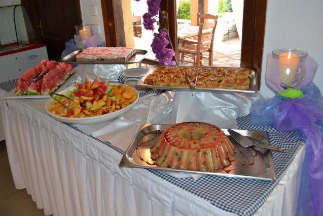Buffet van hotel Elea Village in Chalkidiki