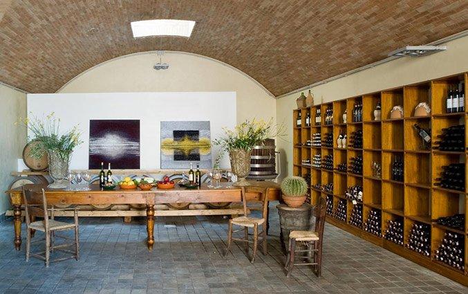 Wijnkelder van Bed and breakfast Poderi Arcangelo in Toscane