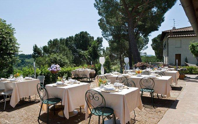 Terras van Bed and breakfast Poderi Arcangelo in Toscane