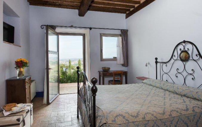 Tweepersoonskamer van Bed and breakfast Poderi Arcangelo in Toscane
