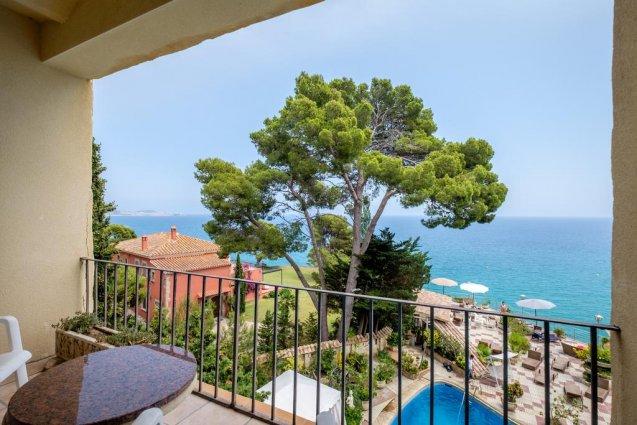 Uitzicht van hotel Cap Roig in Platja d'Aro