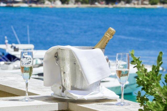 Champagne van Hotel Spongiola in Dalmatië