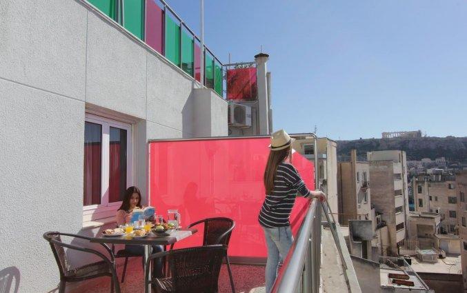 Balkon van Hotel Attalos in Athene