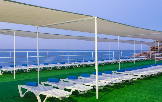 Eigen strand van Hotel Club Falcon in Antalya