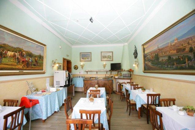 Ontbijtzaal van Hotel Desiree in Florence