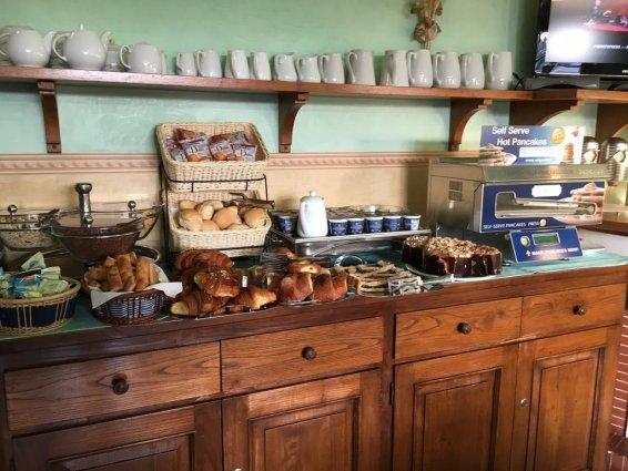 Ontbijtbuffet van Hotel Desiree in Florence
